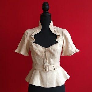 Retro Rebecca Taylor Sweetheart Corset Jacket